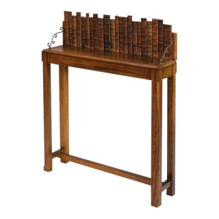 Sarreid Ltd Leather Book Back Console Table