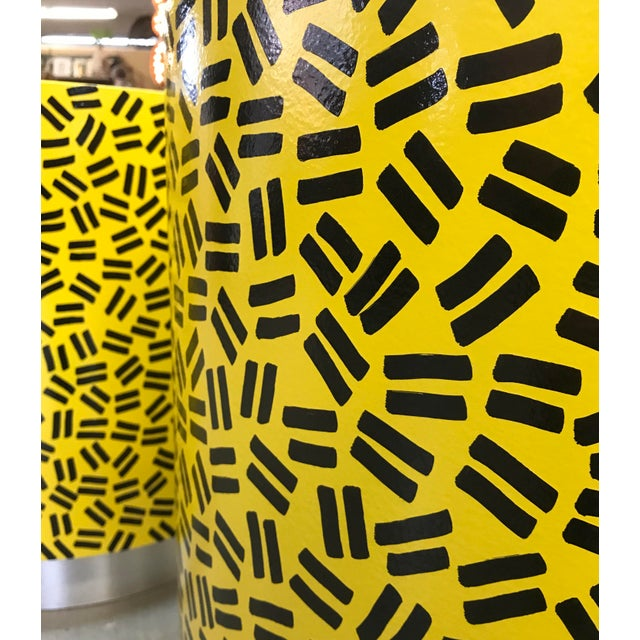Pop Art Post Modern Cylinder Side Tables -A Pair - Image 3 of 7