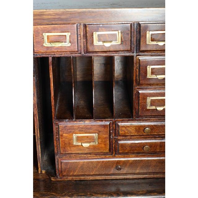 1900 Antique Oak Desk Top - Image 3 of 7