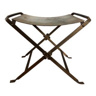 Antique Italian Gilded Iron Vanity Stool
