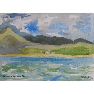Coast of Scotland Watercolor
