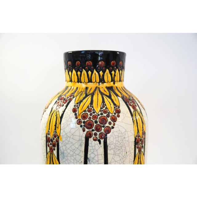 Tall Charles Catteau Vase - Image 3 of 5