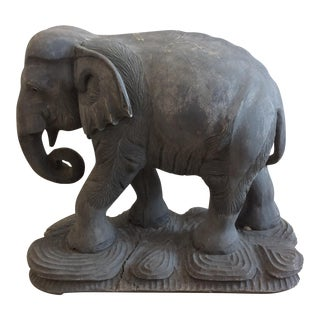 Large Carved Elephant Statue