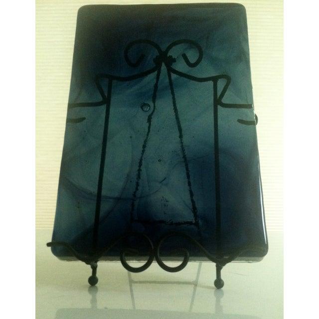 Blenko Blue Art Glass Panel - Image 4 of 7