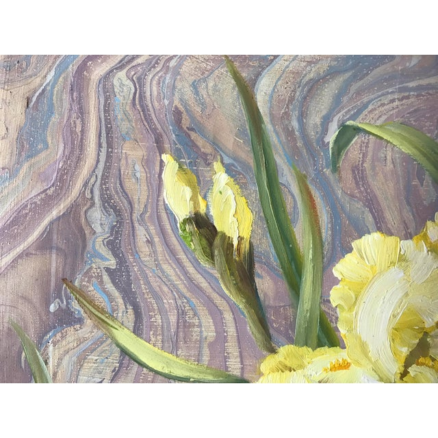 Image of Framed Daffodils Oil Painting