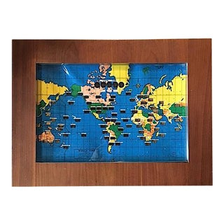 Illuminated Time Zone World Map