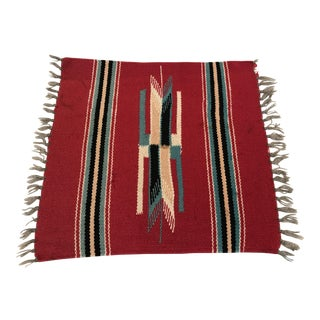 Vintage Native American Table Rug Weaving