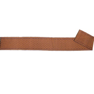 Handwoven Swedish Vintage Rug - 2′ × 17′10″