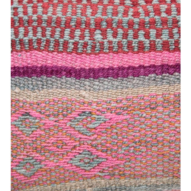 Pink/Red Handwoven Peruvian Pillow - Image 3 of 4