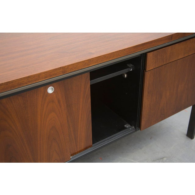 Rosewood Steel Office Credenza - Image 4 of 11