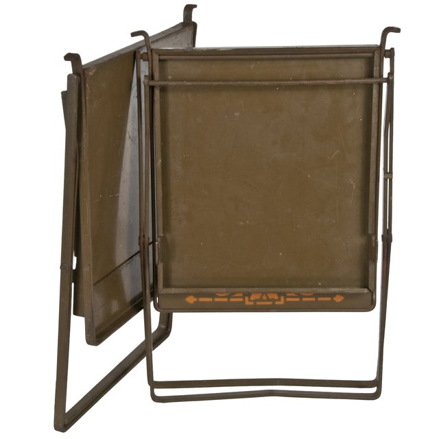 Prairie Style Folding Iron Chairs - A Pair - Image 3 of 3