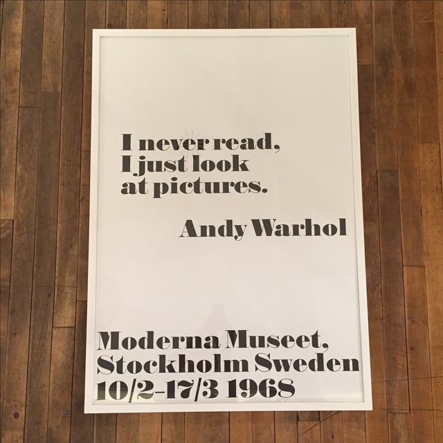 Image of Andy Warhol 'I Never Read' Print