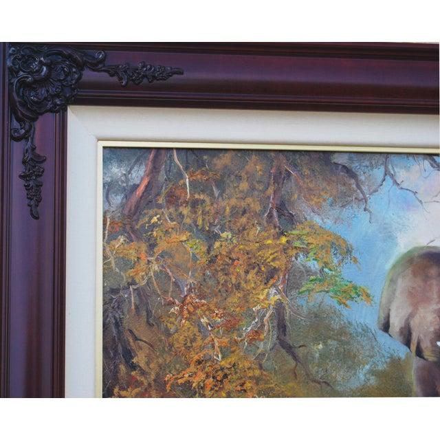 Image of Violet Parkhurst Original Elephant Oil Painting