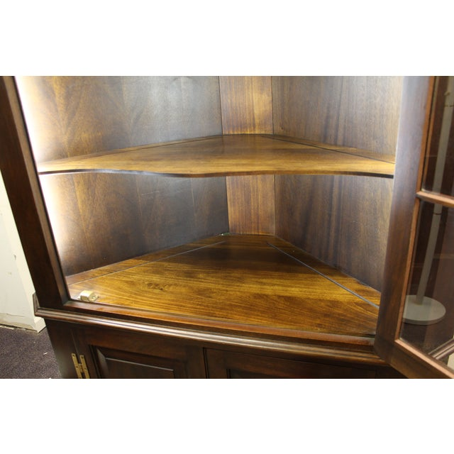 Henkel Harris Genuine Lighted Corner Cabinet - Image 11 of 11