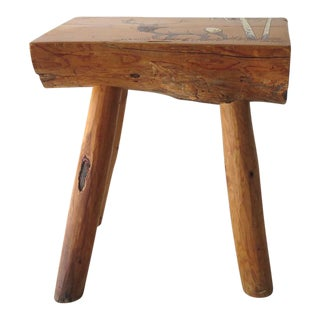 Vintage Split Log Side Table