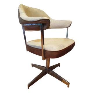 Hollywood Regency Swivel Cowhide Chair