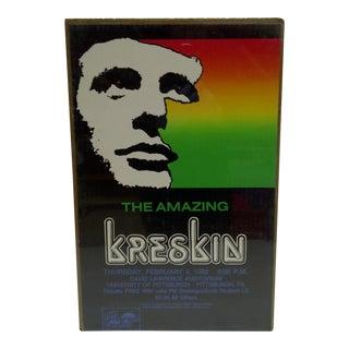 "1982 Vintage ""The Amazing Kreskin"" University of Pittsburgh Show Poster"