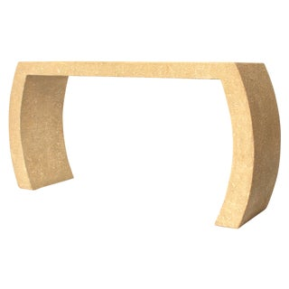 Karl Springer Style Waterfall Console Table