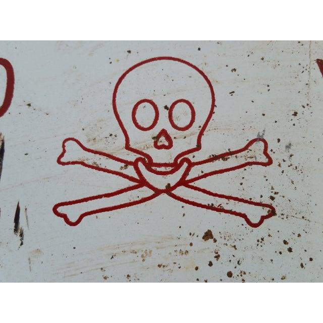 Enamel Skull Electricity Warning Sign - Image 3 of 3