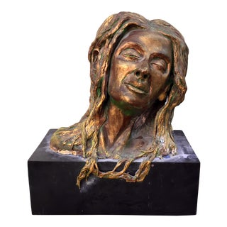 Metal Figurative Bust Sculpture