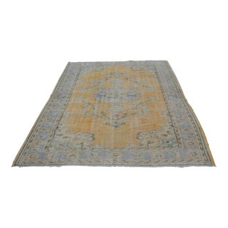 "Antique Turkish Faded Carpet - 77"" x 99"""