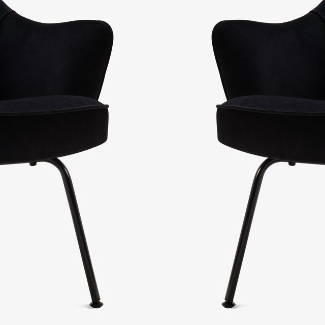 Saarinen Executive Arm Chairs, Black Edition - Set of 6 - Image 5 of 8