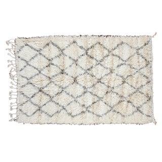 "Vintage Beni Ourain Moroccan Carpet - 5' x 7'8"""