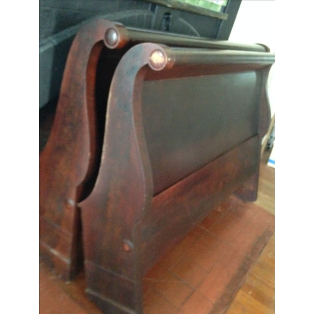 Antique Child's Sleigh Bed - Image 6 of 10