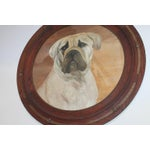 Image of Monumental 19th Century Signed L. Stowe Oil Painting of Dog