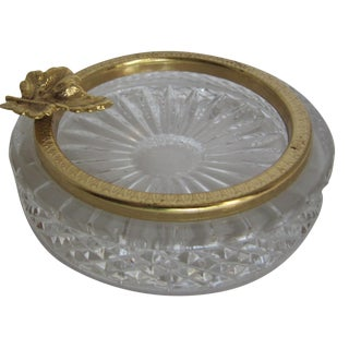 Glass & Brass Ashtray