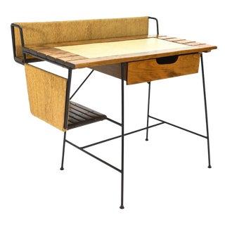 Vintage Arthur Umanoff Iron and Wood Desk