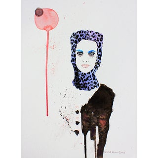 'Bubbles' Fashion Illustration Print
