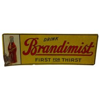 """Vintage """"Brandimist"""" Metal Advertising Sign"""