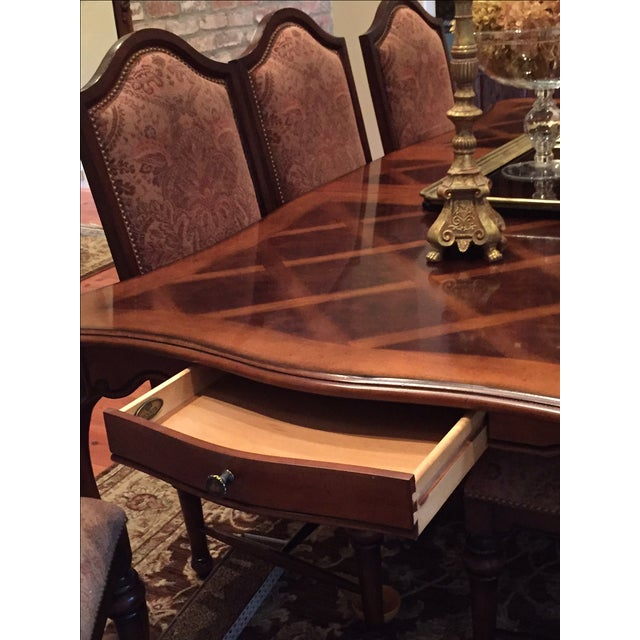 Formal Dining Room Set - Table with 8 Chairs - Image 5 of 9
