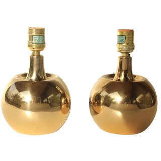 Laurel Lamp Co. Brass Orb Lamps - A Pair