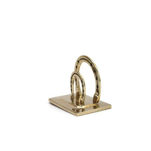 Image of Lucky Horseshoe Brass Mail Holder