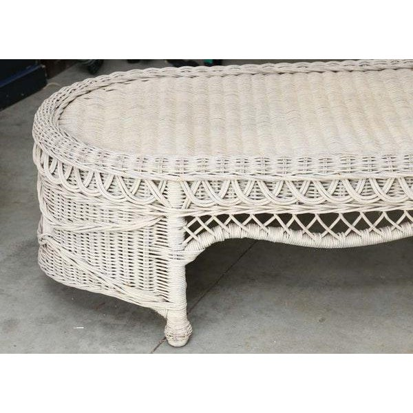 Oval Coffee Table Ireland: Vintage Victorian Bar Harbor Style Oval Wicker Coffee