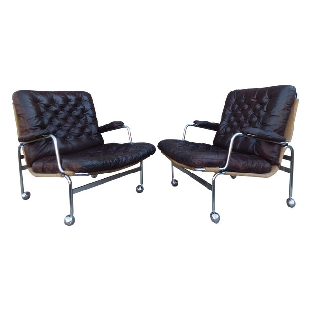 Bruno Mathsson Karin Easy Chairs For Dux Sweden - Image 1 of 8
