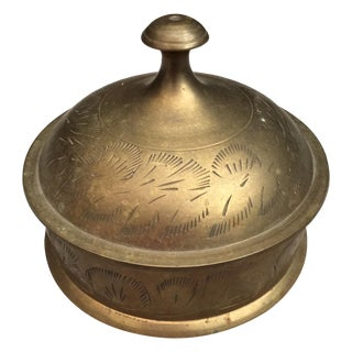 Metal Box with Etching and Lid
