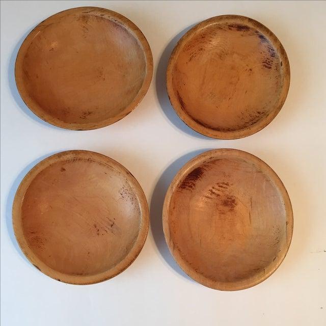 Primitive Wood Bowls - Set of 4 - Image 4 of 11