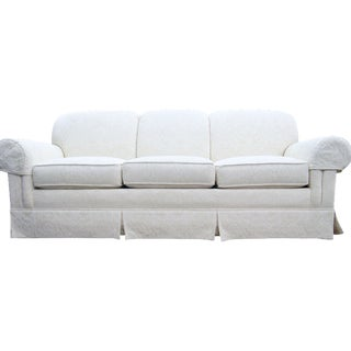 Thomasville Off-White Brocade Sofa