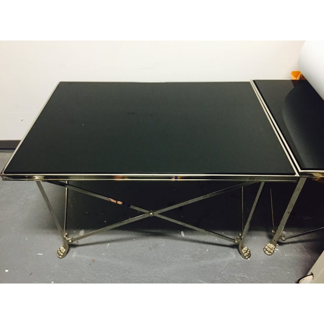 Ralph Lauren Black Glass Top Coffee Table - Image 2 of 8