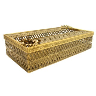 Vintage Hollywood Regency Gilt Tissue Box