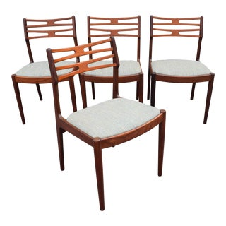Vintage Johannes Andersen for Vamo Mobelfabrik Danish Modern Teak Model 101 Dining Chairs - Set of 4