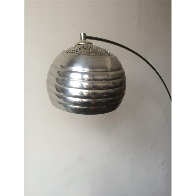 mid century chrome arc floor lamp chairish. Black Bedroom Furniture Sets. Home Design Ideas