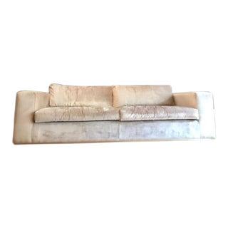 Gorgeous Hollywood Regency Chic Champagne Velvet Sofa