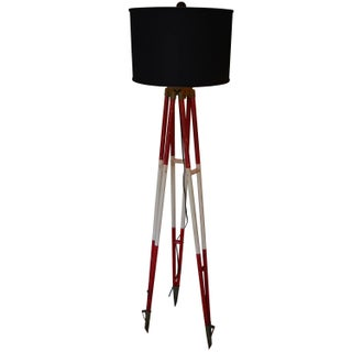 Floor Lamp Created From Swiss Surveyor Tripod