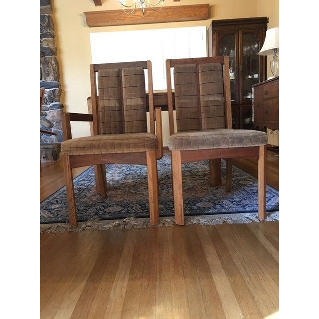 Vintage Oak Glass Top Dining Suite - Image 7 of 11