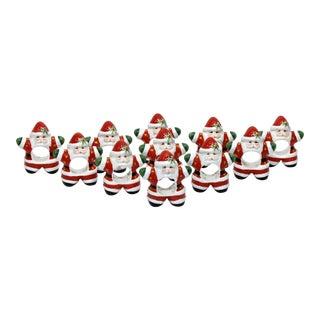 Santa Claus Napkin Rings - Set of 11