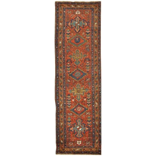 Surena Rugs Antique Handmade Persian Runner - 3' 2'' x 11' 2''